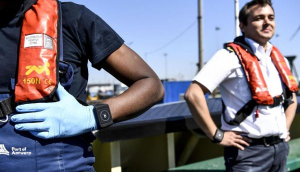 Port of Antwerp tests smart bracelet to aid social distancing