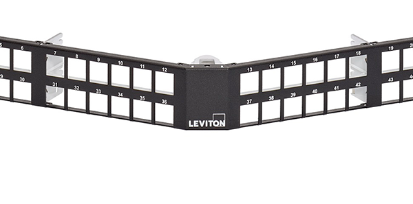 Leviton e2XHD Universal High-Density Panels support shielded connectivity