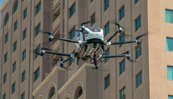 Ooredoo showcases world's first self-driving 5G connected aerial taxi