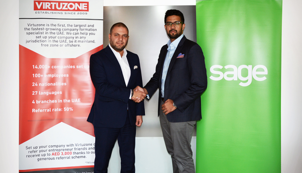 Virtuzone partners with Sage to offer world-class accounting software